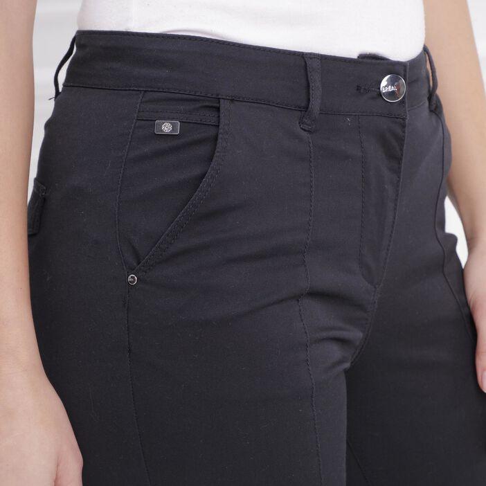 Pantacourt taille standard noir femme