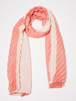 Foulard plisse rouge femme