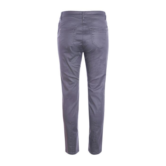 Pantalon enduit 7/8ème gris foncé femme