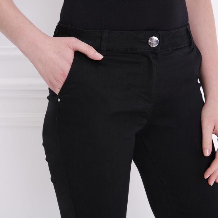 Pantalon taille standard noir femme