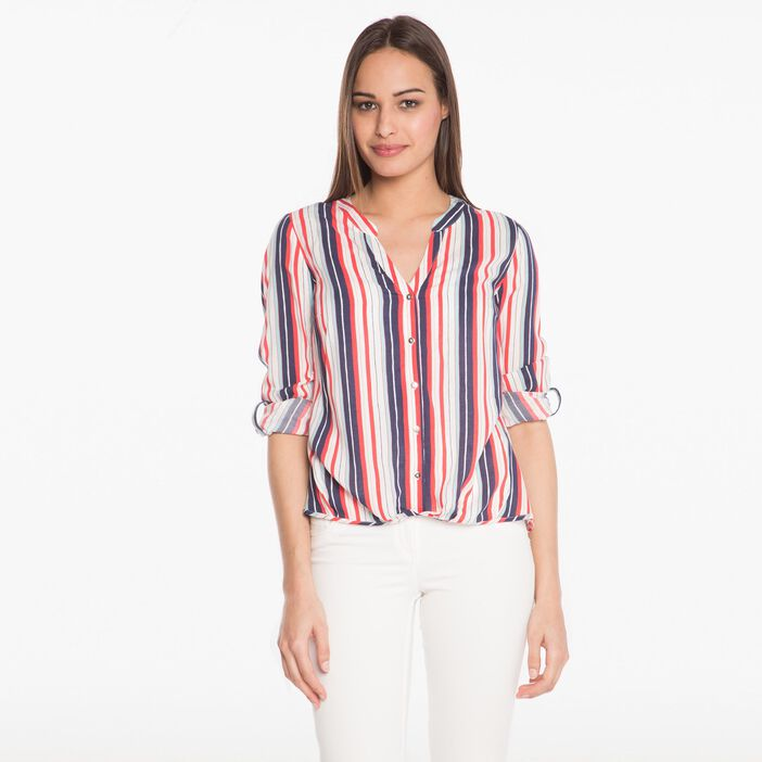Chemise à rayure blanc femme