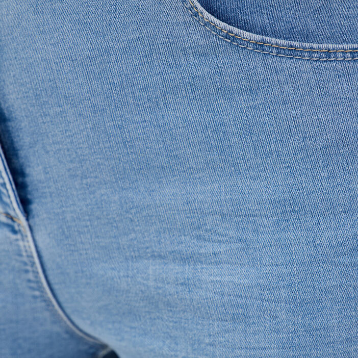 Jeans ajusté taille standard denim baby bleu femme