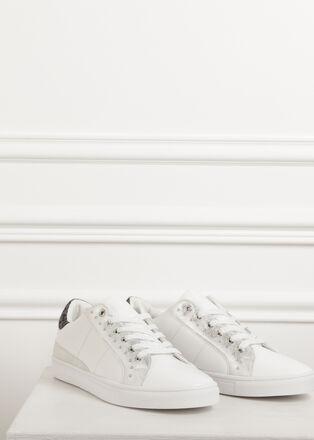 Basket clous blanc femme