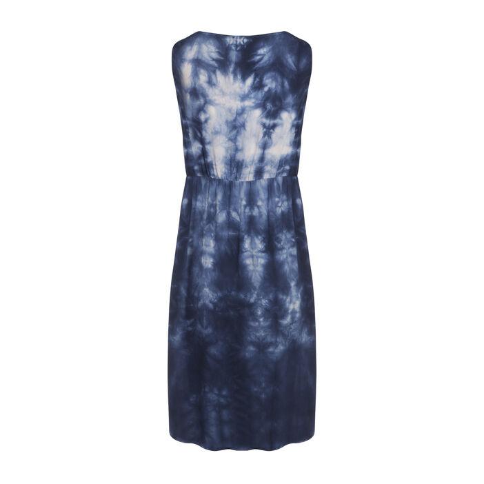 Robe droite asymétrique bleu femme