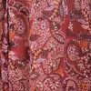 Chemise manches 34 bordeaux femme