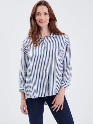 Chemise manches 34 blanc femme