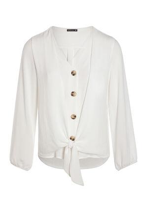 Chemise boutonnee ecru femme
