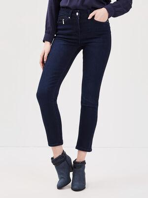 Jeans ajuste taille standard denim brut femme