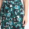 Jupe courte portefeuille imprimee vert fonce femme