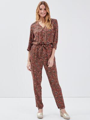 Combinaison pantalon ceinturee multicolore femme