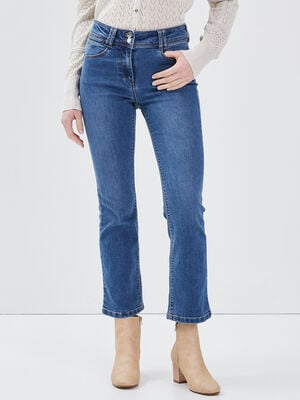 Jean large taille basculee denim stone femme