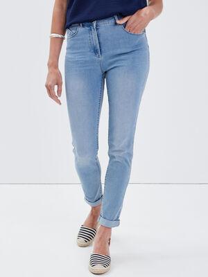 Jeans ajuste taille standard denim baby bleu femme