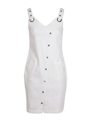 Robe bretelles blanc femme