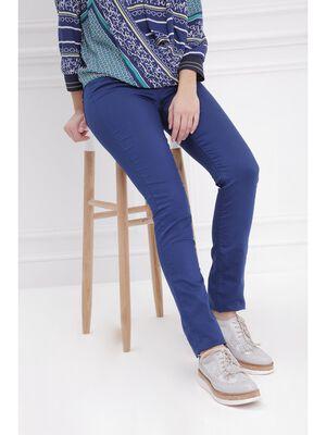 Pantalon ajuste push up bleu fonce femme