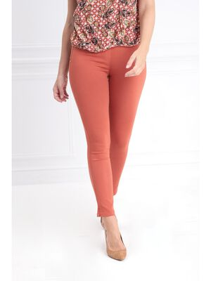 Tregging taille standard orange fonce femme