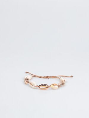 Bracelet coquillages blanc femme