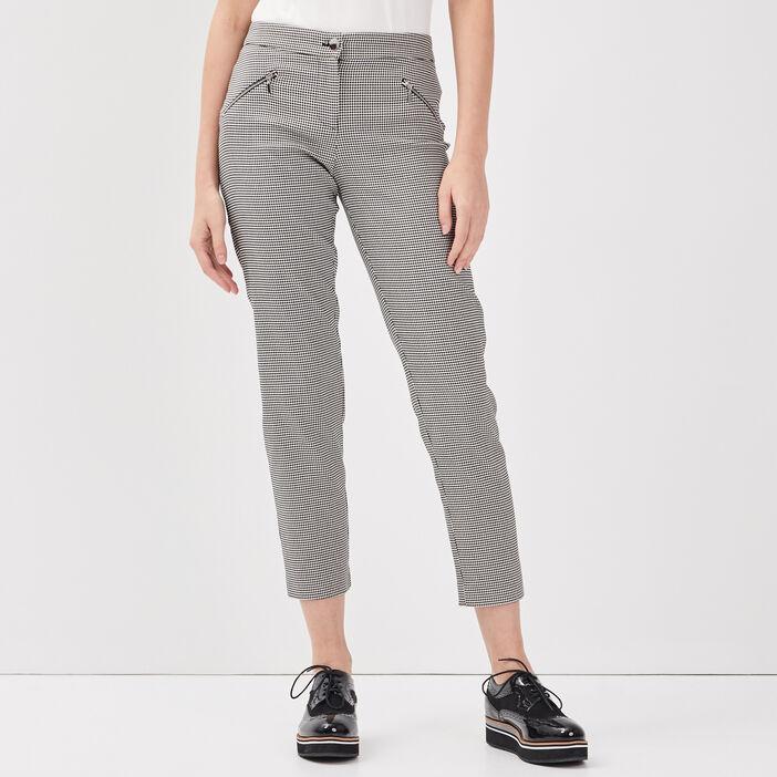 Pantalon droit taille standard noir femme