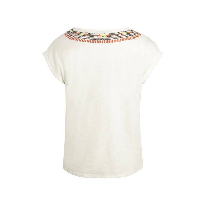 T-shirt ethnique Hope ecru femme