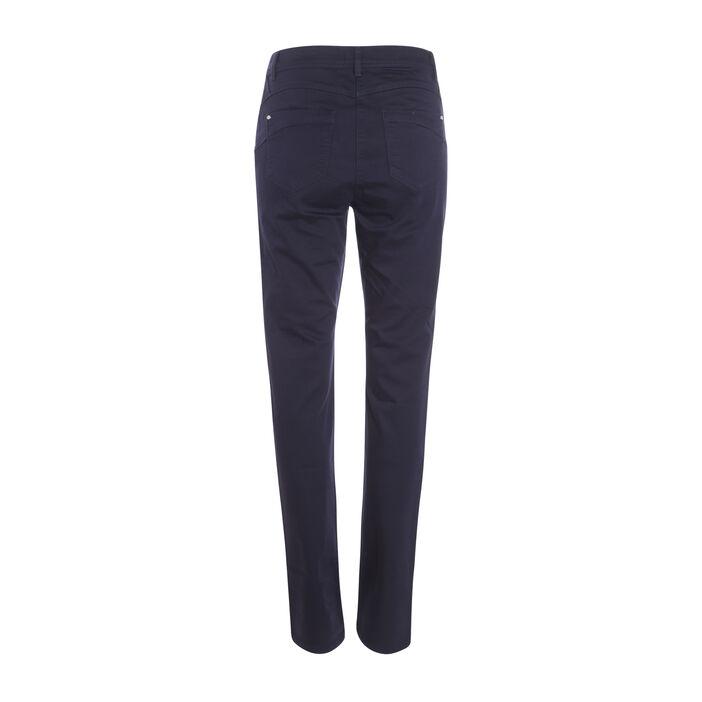 Pantalon push up taille haute bleu foncé femme