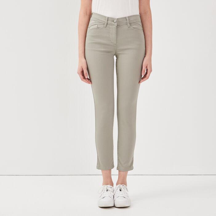 Pantalon ajusté taille standard vert clair femme