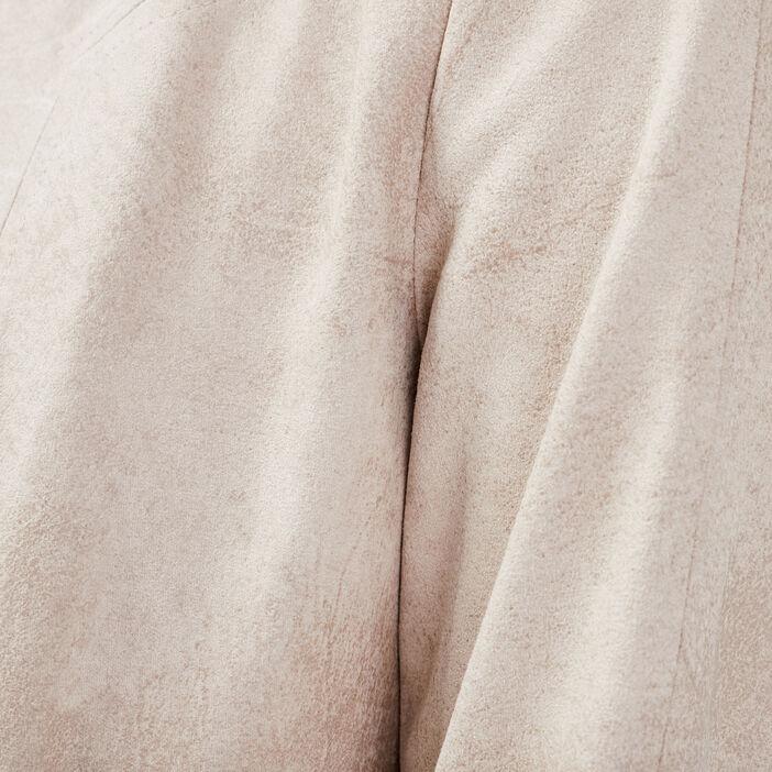Veste évasée effet suédine beige femme