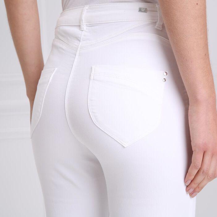 Pantacourt taille standard blanc femme