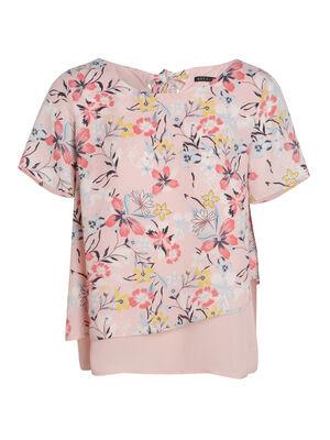 T shirt rose clair femme
