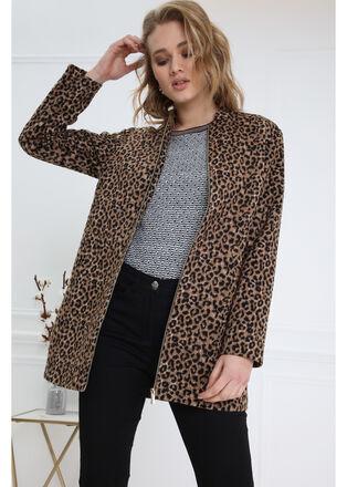 Manteau droit zippe noir femme