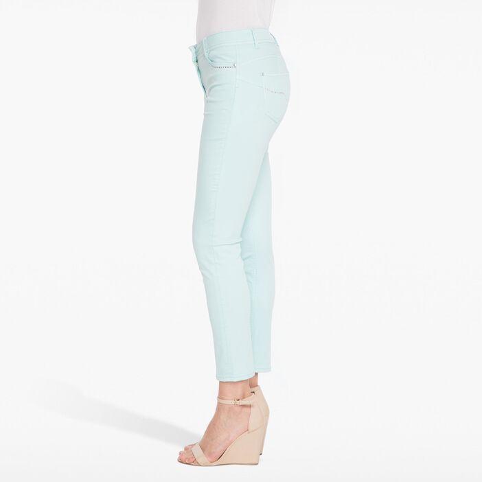 Pantalon ajusté uni avec strass bleu femme
