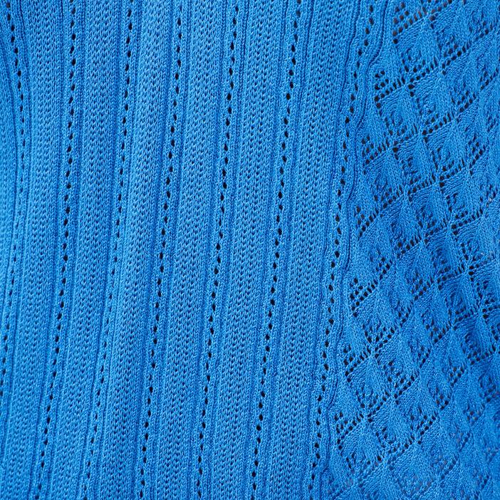 Pull manches courtes bleu violet femme