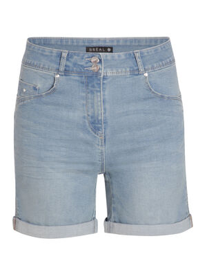 Short en jean uni denim double stone femme