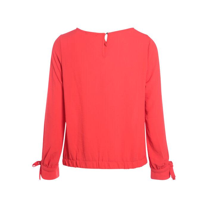 Chemise avec noeuds aux manches rose fushia femme
