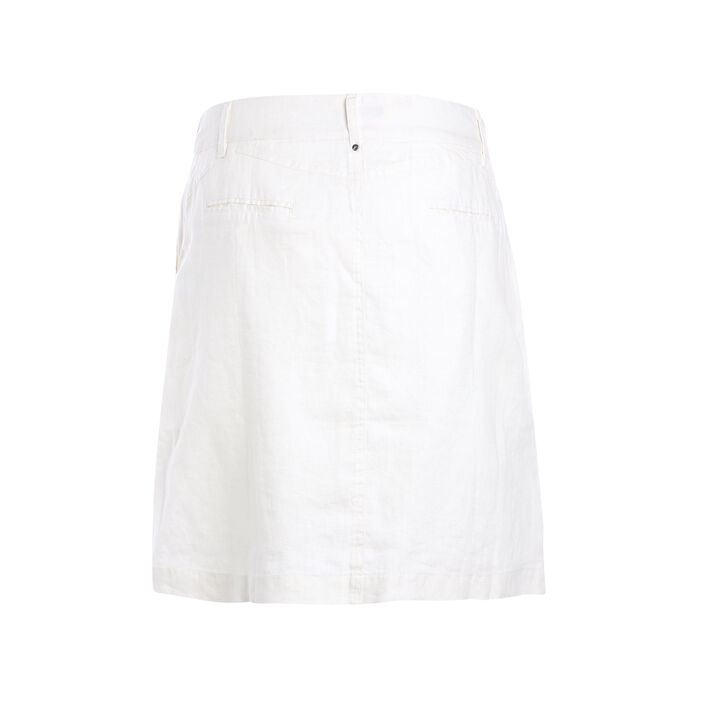 Jupe trapèze taille standard ecru femme
