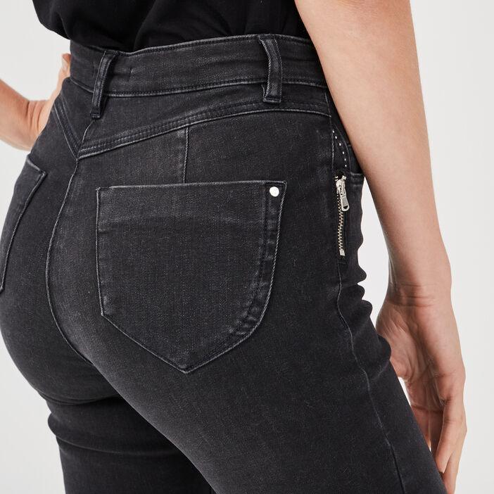 Pantalon long gris foncé femme