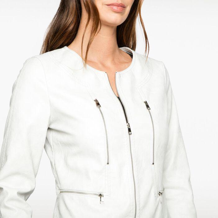 Veste zippée gris foncé femme