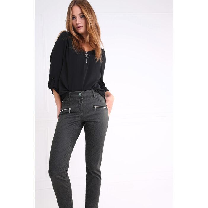 meilleur authentique df3ba 307a1 Pantalon taille haute coupe ajustée vert canard femme   Bréal