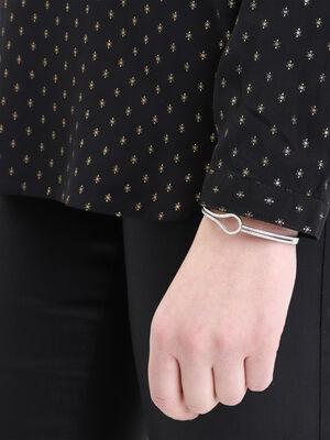 Bracelet jonc details strass couleur argent femme
