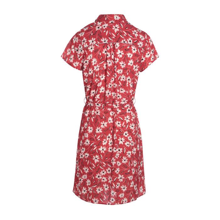 Robe chemise à ceinture rouge femme