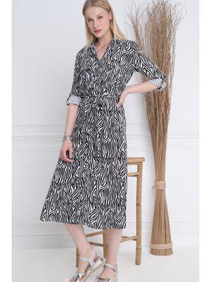 Robe Chemise longue noir femme