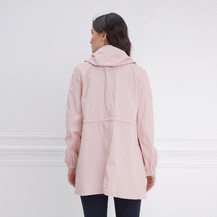 Parka légère avec fantaisie rose clair femme