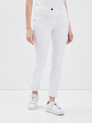 Pantalon ajuste 78eme blanc femme