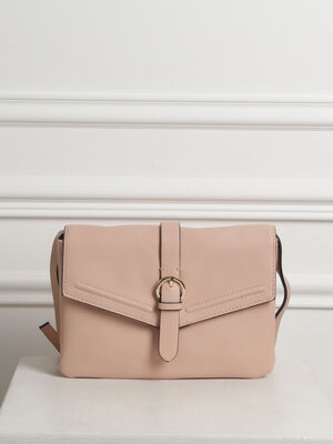 Sac rectangulaire a boucle rose femme