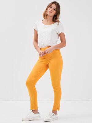 Tregging taille standard jaune or femme