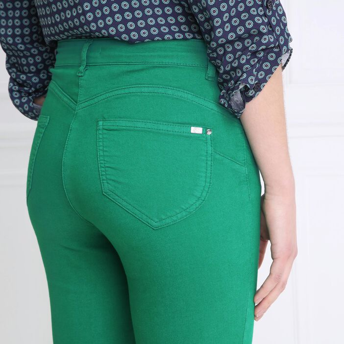 Pantalon léger toucher doux vert femme