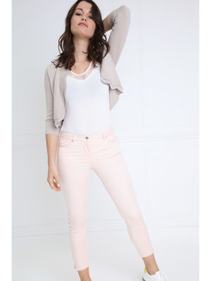 Pantalon taille basculee 78 rose clair femme