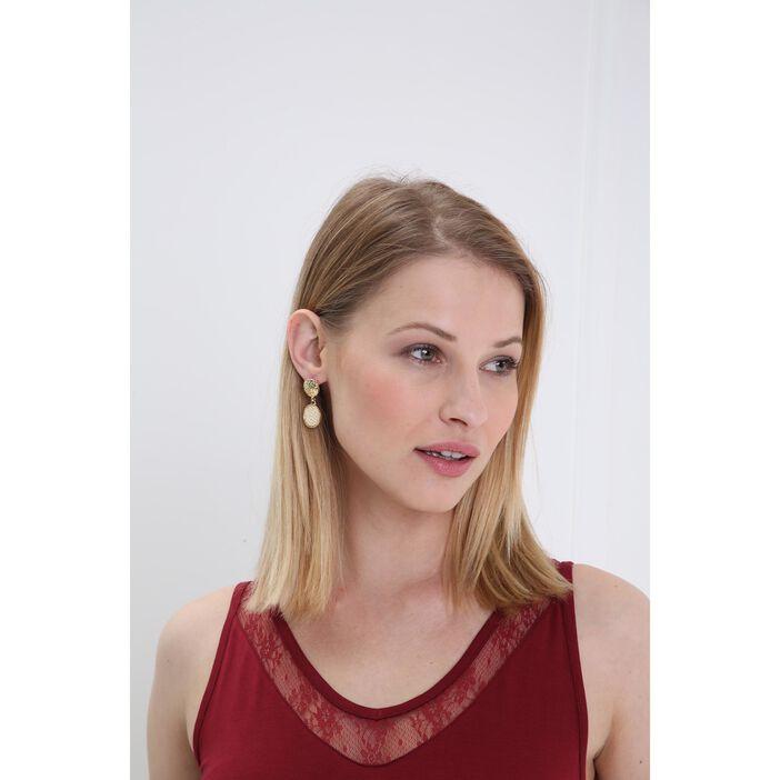 Boucles d'oreilles tressage sable femme