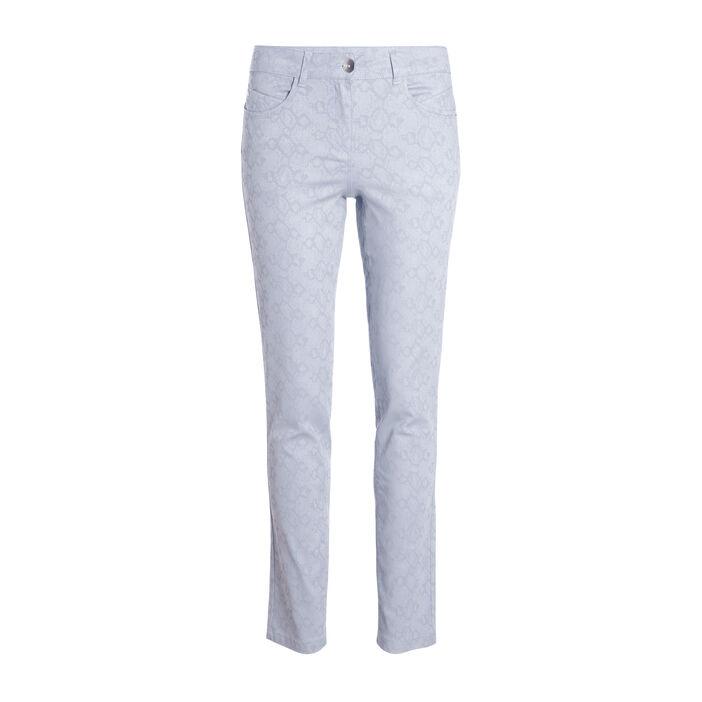 Pantalon taille standard 7/8 gris foncé femme