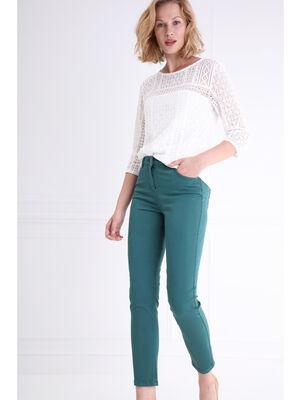 Pantalon 78eme taille standard vert canard femme