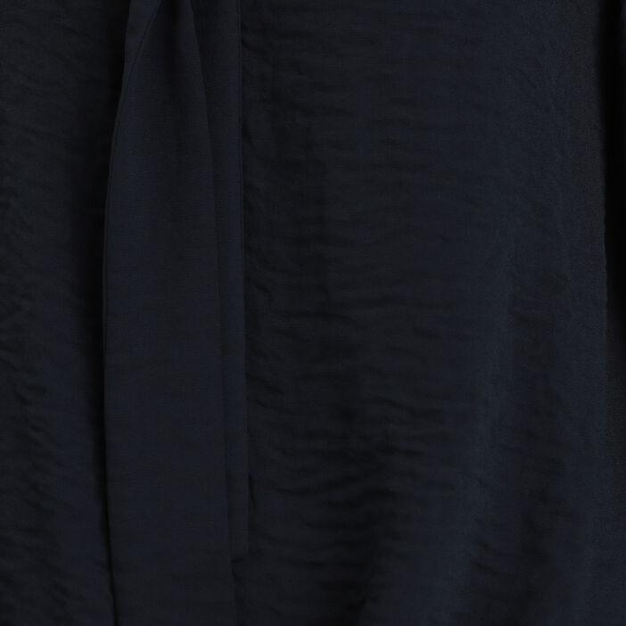 Blouse manches longues noir femme
