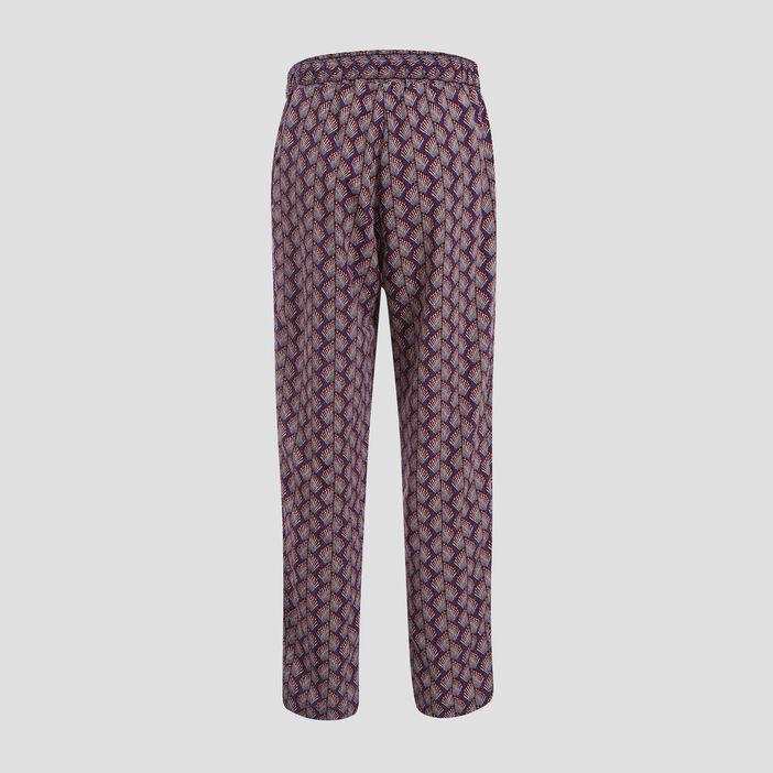 Pantalon taille standard bleu femme